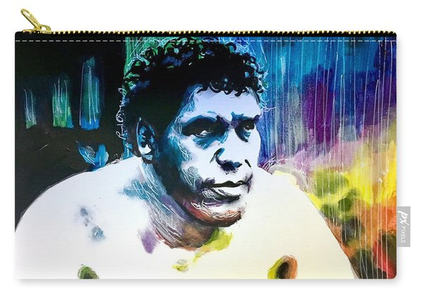 Carry-all Pouch featuring the painting Andre The Giant by Joel Tesch