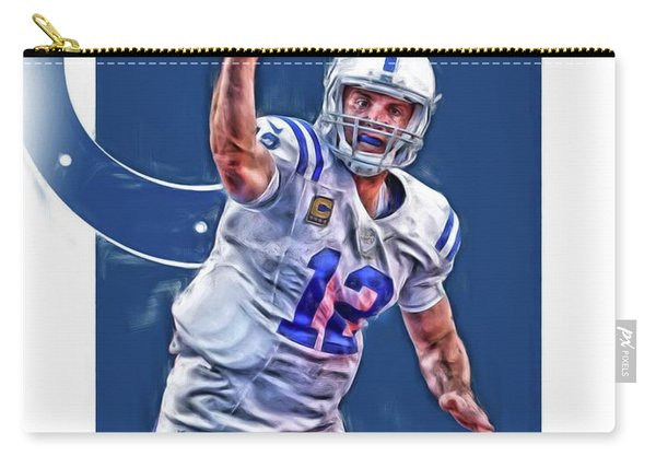 Andrew Luck Indianapolis Colts Oil Art 1 Carry-all Pouch