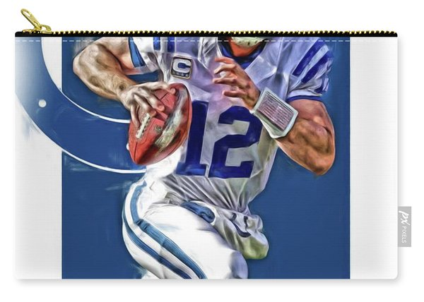 Andrew Luck Indianapolis Colts Oil Art Carry-all Pouch