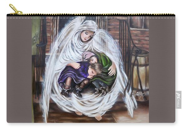 Flying Lamb Productions.        Angel And The Orphans Carry-all Pouch