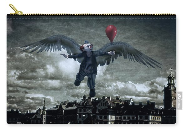 Angel Clown With Balloon Carry-all Pouch