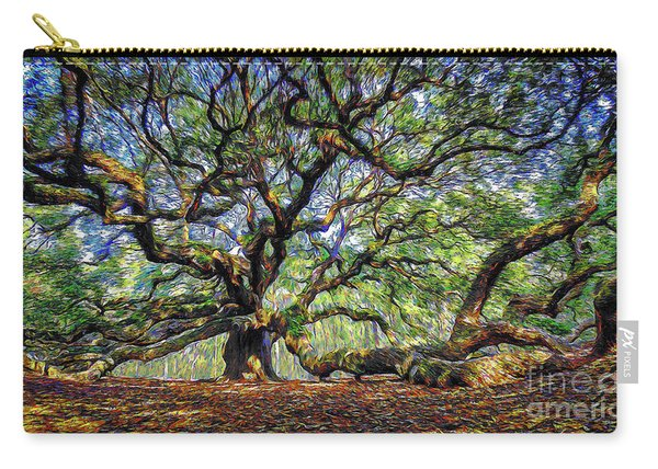 Angel Oak In Digital Oils Carry-all Pouch