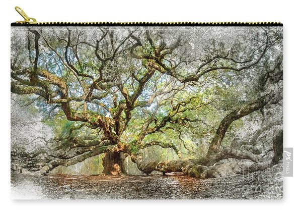 Angel Oak Mixed Media Carry-all Pouch