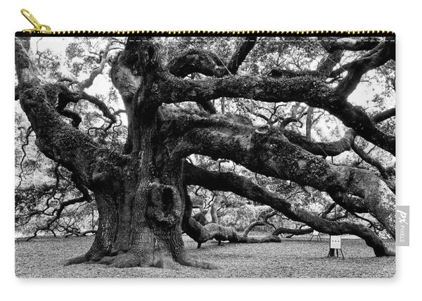 Angel Oak Tree 2009 Black And White Carry-all Pouch