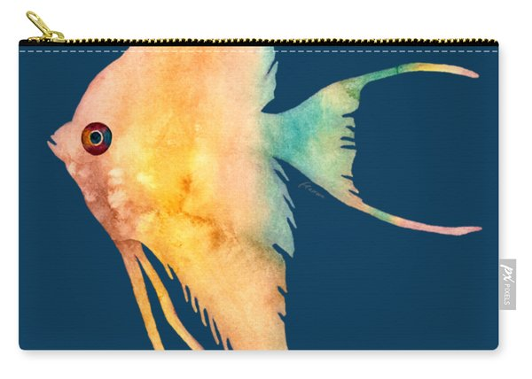 Angelfish II - Solid Background Carry-all Pouch