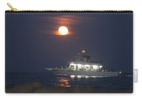 Angler Cruises Under Full Moon Carry-all Pouch