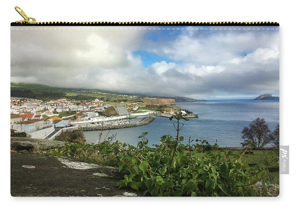 Angra Do Heroismo Port And Split Rock Islet Carry-all Pouch