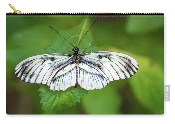 Angry Butterfly With A Mustache Carry-all Pouch