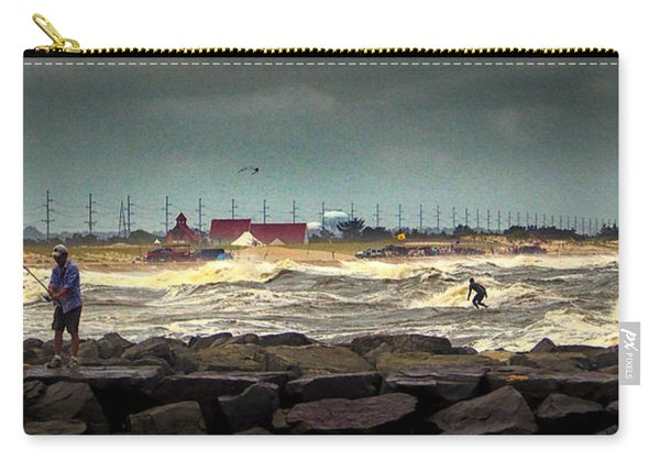 Angry Surf At Indian River Inlet Carry-all Pouch