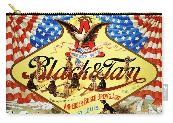 Anheuser Busch Black And Tan Poster Carry-all Pouch