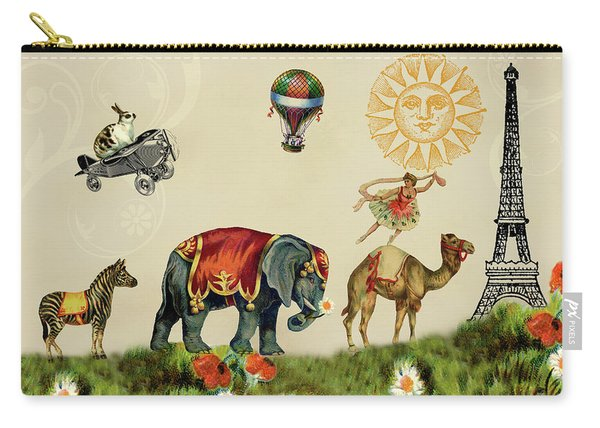 Animals On Parade In Paris Carry-all Pouch