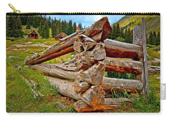 Animas Forks Log Cabin Carry-all Pouch