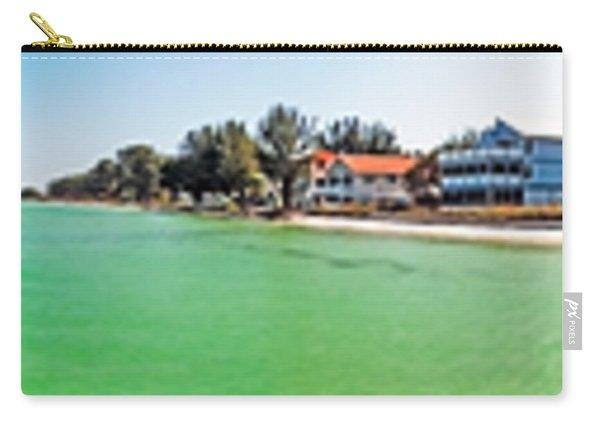 Anna Maria Island With Rod And Reel Pier Carry-all Pouch