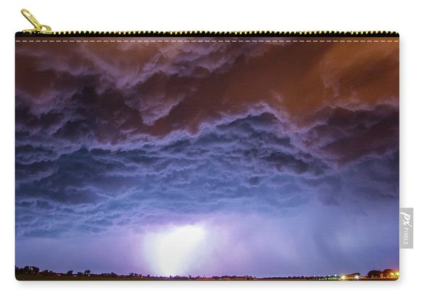 Carry-all Pouch featuring the photograph Another Impressive Nebraska Night Thunderstorm 007 by NebraskaSC