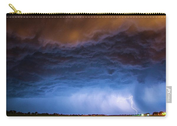 Another Impressive Nebraska Night Thunderstorm 008/ Carry-all Pouch