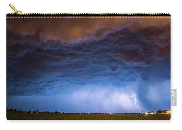 Carry-all Pouch featuring the photograph Another Impressive Nebraska Night Thunderstorm 008/ by NebraskaSC
