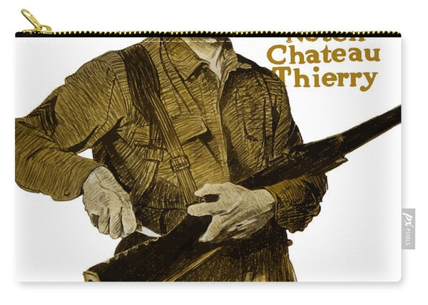 Another Notch Chateau Thierry -- Us Marines Carry-all Pouch