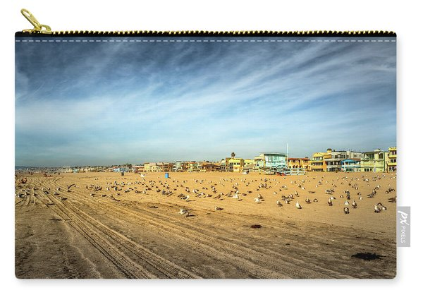 Carry-all Pouch featuring the photograph Another Seagull Afternoon by Michael Hope