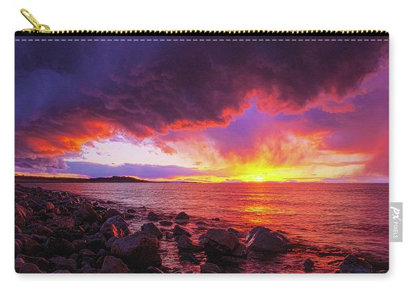 Antelope Island Sunset Carry-all Pouch