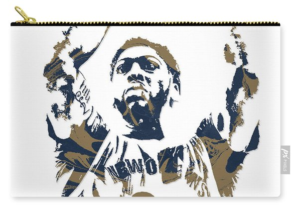 Anthony Davis New Orleans Pelicans Pixel Art 7 Carry-all Pouch