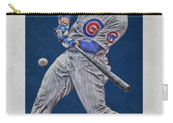 Anthony Rizzo Chicago Cubs Art 1 Carry-all Pouch