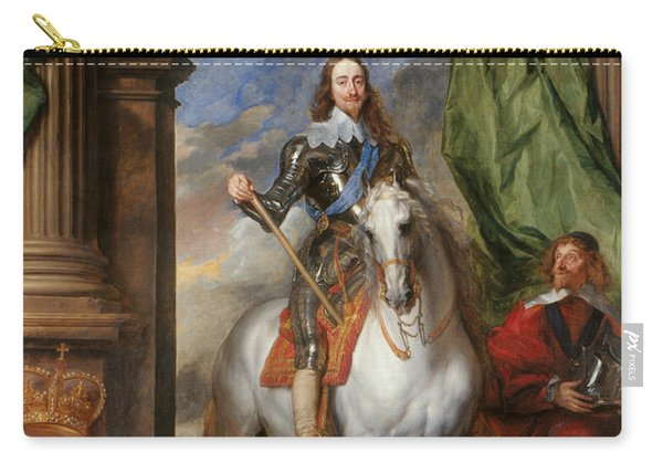 Anthony Van Dyck - Charles I With M. De St Antoine Carry-all Pouch