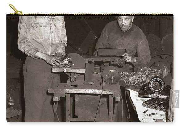 Anthracite Coal Artist  Charles Edgar Patience On Right  1906-1972 In Studio 1953    Carry-all Pouch