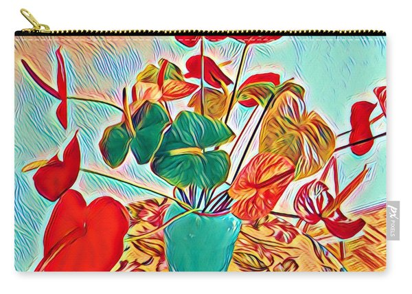 Anthurium Bouquet Of The Day - Multiple Color Carry-all Pouch
