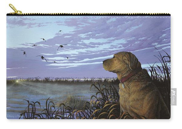 On Watch - Yellow Lab Carry-all Pouch