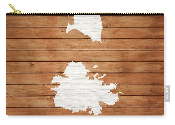 Antigua Rustic Map On Wood Carry-all Pouch