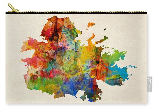 Antigua Watercolor Map Carry-all Pouch