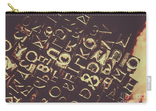 Antique Enigma Code Carry-all Pouch