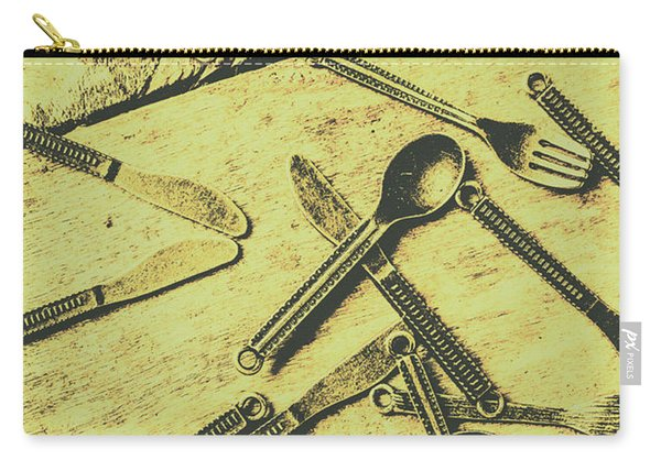 Antique Kitchen Setting Carry-all Pouch