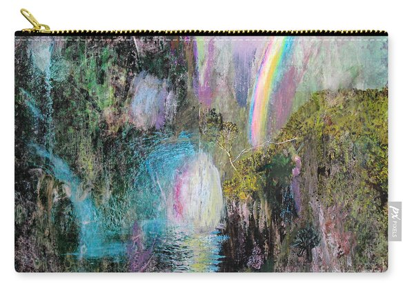 Antique Landscape With Rainbow Carry-all Pouch
