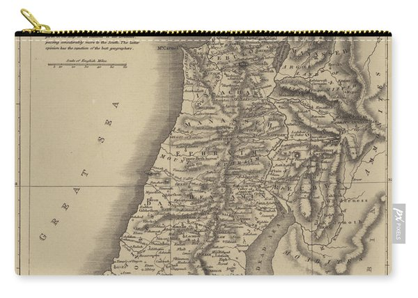 Antique Map Of Canaan Carry-all Pouch
