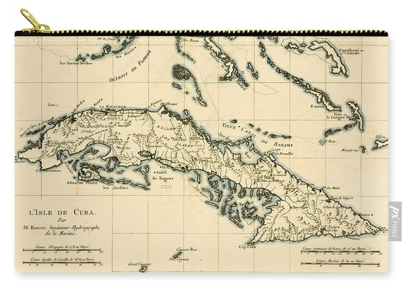 Antique Map Of Cuba Carry-all Pouch