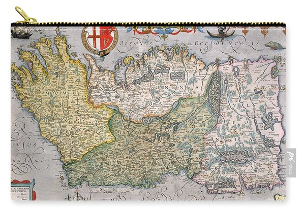 Antique Map Of Ireland Carry-all Pouch