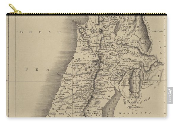Antique Map Of Judah And Israel Carry-all Pouch