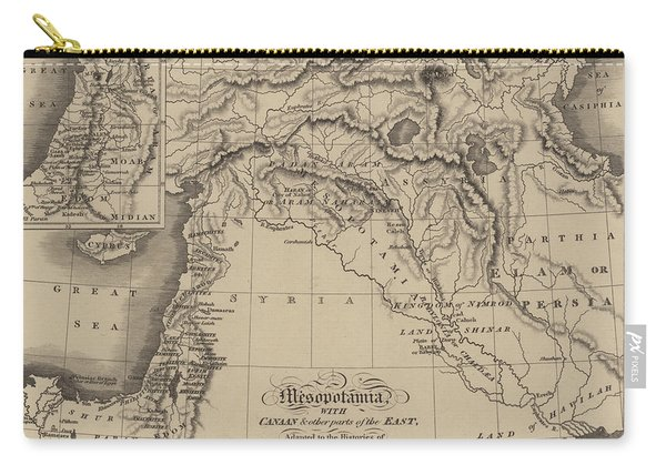 Antique Map Of Mesopotamia With Canaan And Other Parts Of The Middle East Carry-all Pouch
