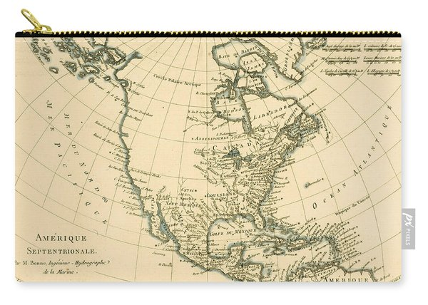 Antique Map Of North America Carry-all Pouch