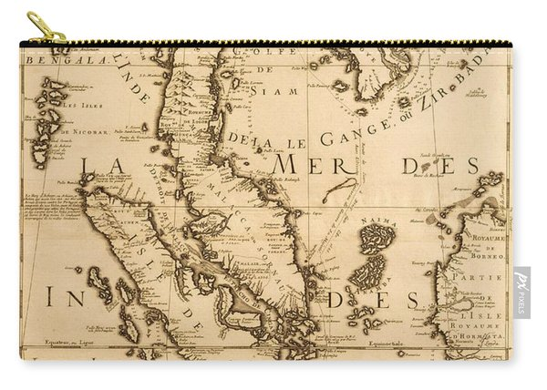 Antique Map Of South East Asia Carry-all Pouch