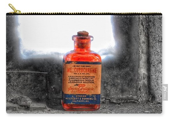 Antique Mercurochrome Hynson Westcott And Dunning Inc. Medicine Bottle - Maryland Glass Corporation Carry-all Pouch