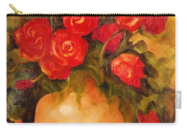 Antique Red Roses Carry-all Pouch