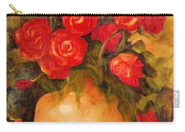 Antique Roses Carry-all Pouch