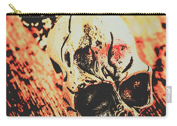 Antique Skull Scene Carry-all Pouch