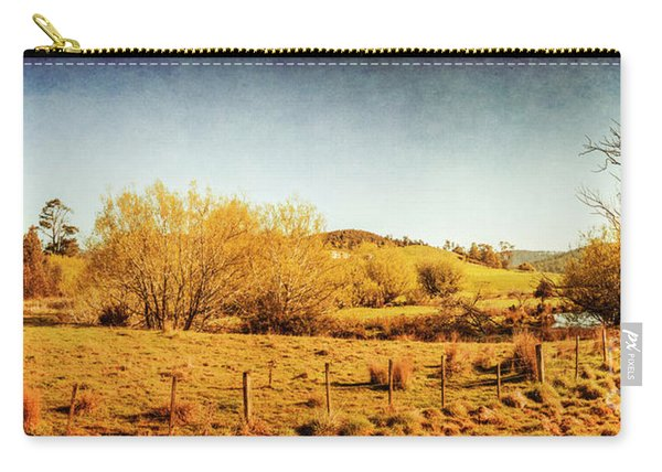 Antique Weathered Countryside Carry-all Pouch