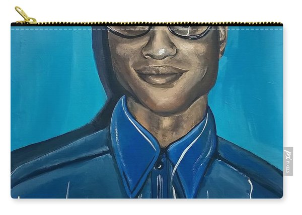 Smart Black Man Nerd Guy With Glasses Cartoon Art Painting Carry-all Pouch