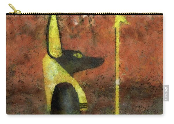 Anubis God Of Egypt By Raphael Terra Carry-all Pouch