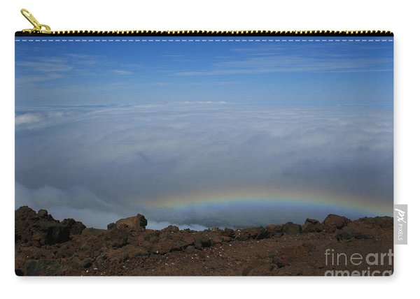 Anuenue - Rainbow At The Ahinahina Ahu Haleakala Sunrise Maui Hawaii Carry-all Pouch
