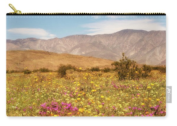 Carry-all Pouch featuring the photograph Anza Borrego Desrt Flowers by Michael Hope